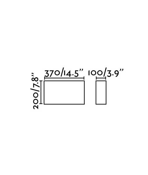Medidas aplique rectangular de tela negro 2 luces COTTON