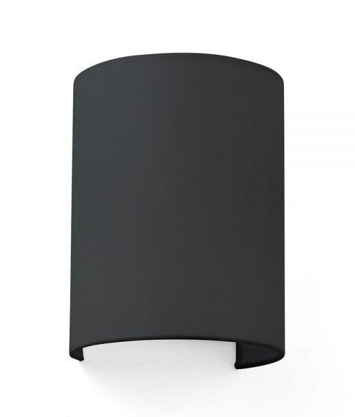 Aplique redondo de tela negro COTTON
