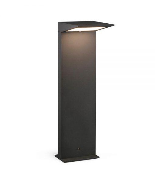 Baliza carga solar gris oscuro 50 cm altura SOLEIL LED