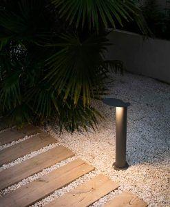Baliza gris oscura 65 cm de alto LOTUS LED ambiente