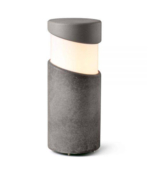 Baliza sobremuro cemento gris 35 cm de alto BLOCK