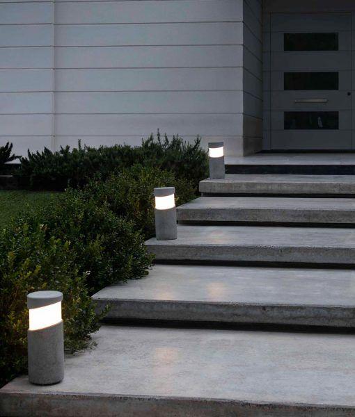 Baliza sobremuro cemento gris 35 cm de alto BLOCK ambiente