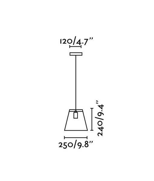 Medidas colgante decorativo negro ROSE-1