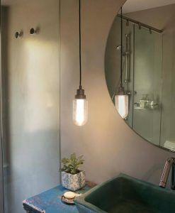 Colgante para baño acabado bronce BRUME LED ambiente