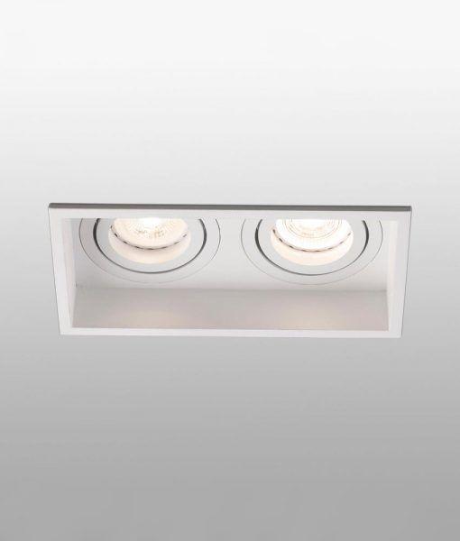 Empotrable blanco orientable 2 luces HYDE