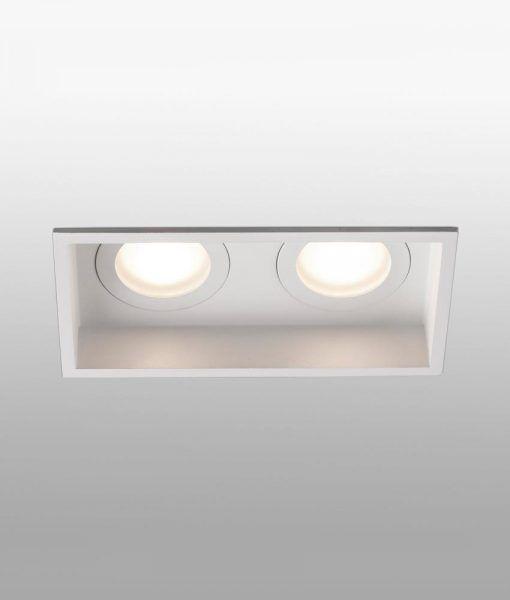 Empotrable blanco rectangular 2 luces HYDE