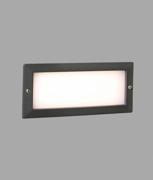 Empotrable de pared gris oscuro STRIPE LED