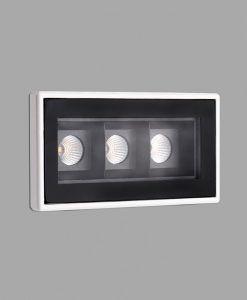 Empotrable de techo negro TROOP-3 LED