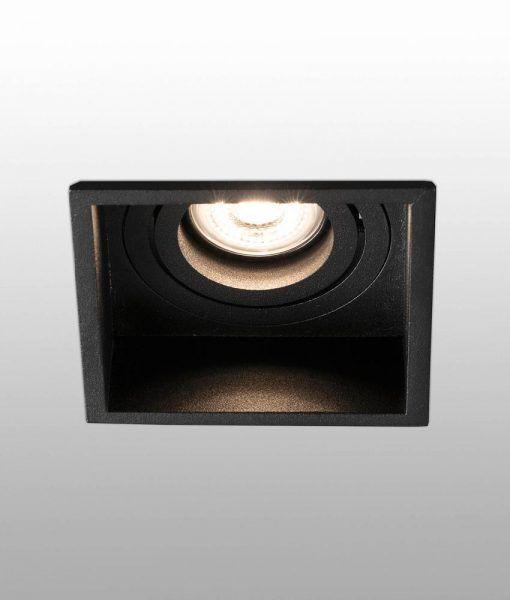 Empotrable negro cuadrado orientable HYDE