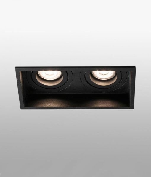 Empotrable negro orientable 2 luces HYDE