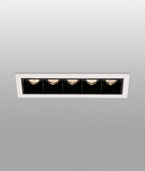 Empotrable para techo negro TROOP-5 LED