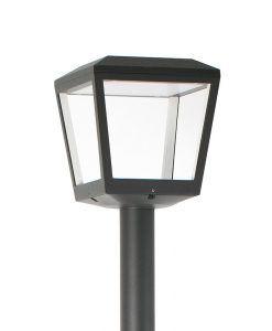 Farola gris oscura PLAZA LED detalle