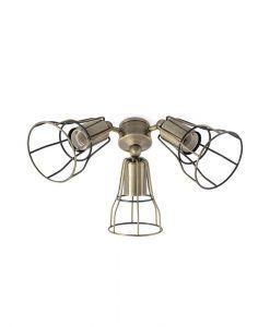 Kit de luz oro viejo para ventilador modelo YAKARTA