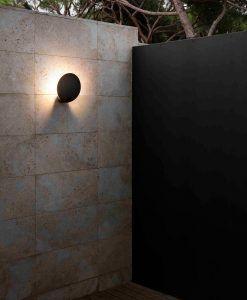 Lámpara aplique gris oscuro LOTUS LED ambiente 2