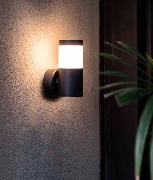 Lámpara aplique gris oscuro PLIM-2 LED ambiente