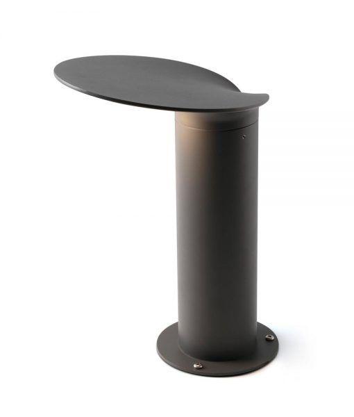 Lámpara baliza gris oscura 35 cm de alto LOTUS LED
