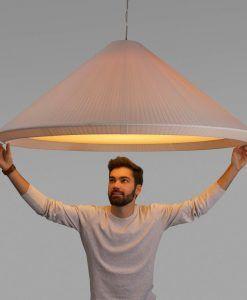 Lámpara blanco marfil 130 cm diámetro HUE IN ambiente 2