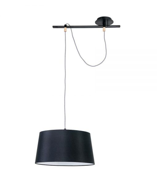 Lámpara negra de diseño FUSTA