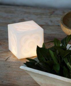 Lámpara portátil blanca LAMPANOT LED ambiente