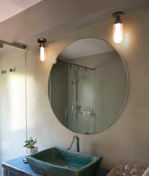 Plafón de baño bronce BRUME LED ambiente