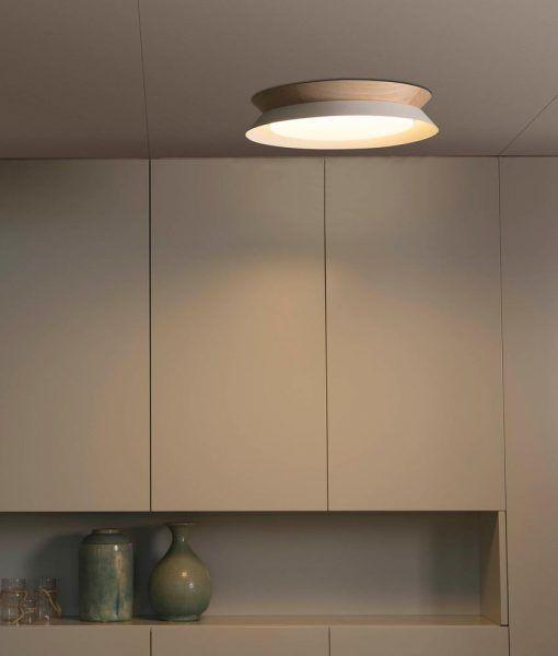 Plafón TENDER LED blanco 45 cm diámetro ambiente