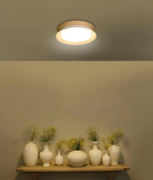Plafón TENDER LED blanco 45 cm diámetro ambiente 2
