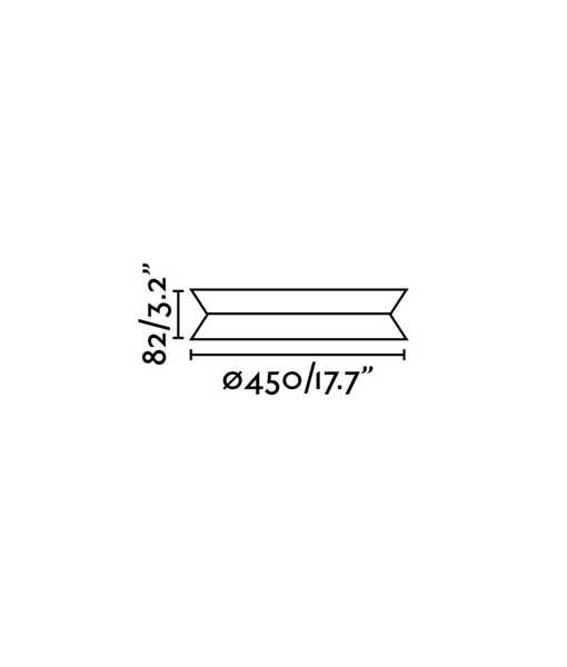 Medidas plafón TENDER LED blanco 45 cm diámetro