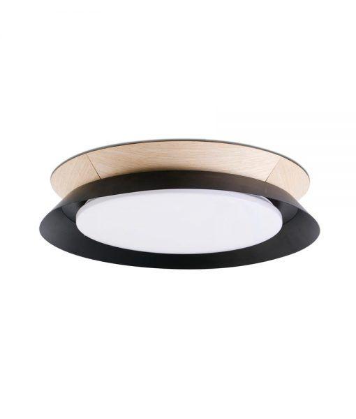 Plafón TENDER LED negro 45 cm diámetro