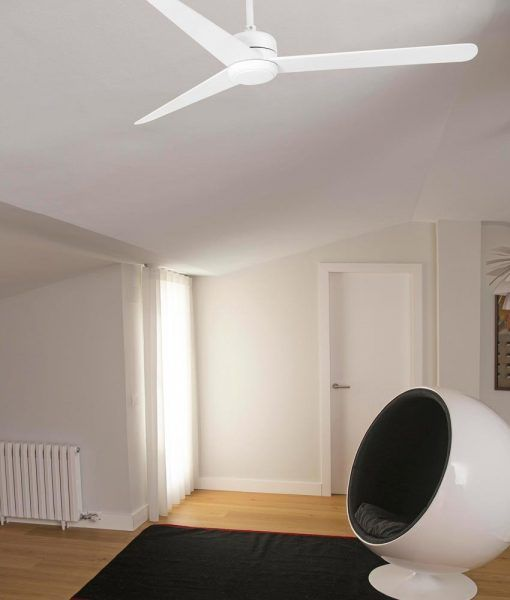 Ventilador blanco motor bajo consumo 132 cm diámetro NU ambiente