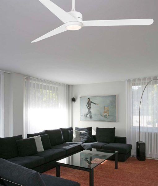 Ventilador blanco motor DC 132 cm diámetro NU LED ambiente