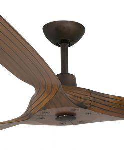 Ventilador marrón motor DC 152 cm diámetro MOREA detalles