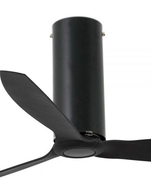 Ventilador negro mate 128 cm diámetro TUBE FAN detalles