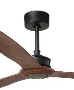 Ventilador negro y madera 178 cm diámetro JUST FAN detalles