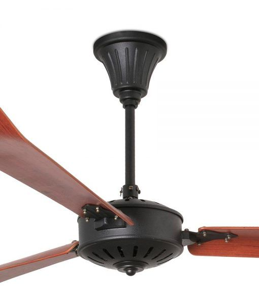 Ventilador negro y madera 180 cm de diámetro AOBA detalles
