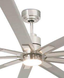 Ventilador níquel grande 244 cm de diámetro MANHATTAN detalles
