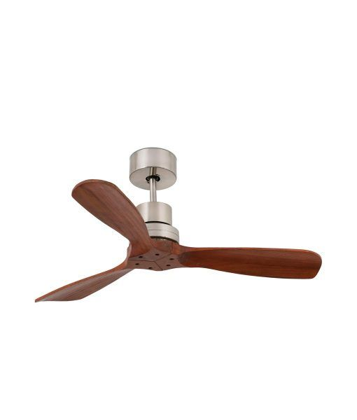 Ventilador níquel y madera 106 cm diámetro MINI LANTAU