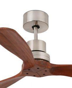 Ventilador níquel y madera 106 cm diámetro MINI LANTAU detalles