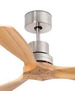 Ventilador níquel y pino 106 cm diámetro MINI LANTAU detalles