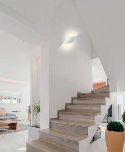 Aplique aluminio blanco TAHITI LED ambiente