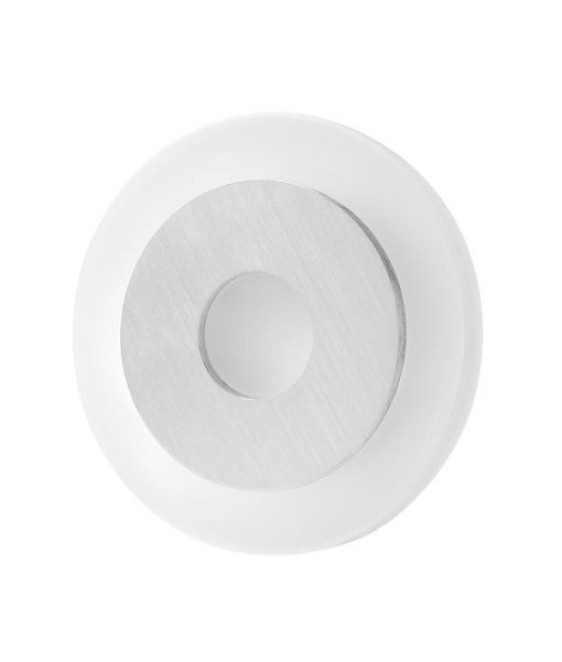 Aplique circular níquel satinado SOL LED
