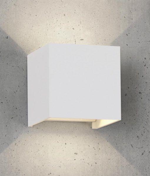 Aplique cuadrado LED blanco DAVOS detalle