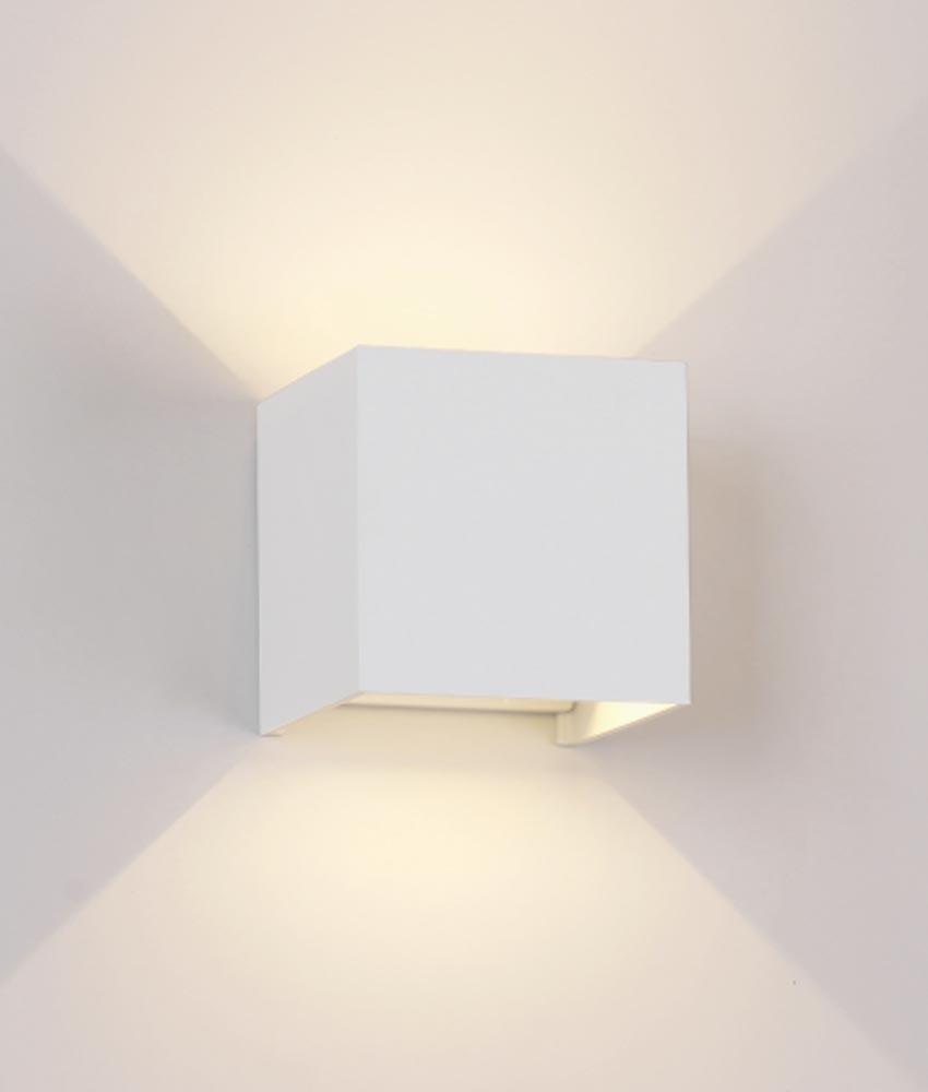 Aplique cuadrado LED blanco DAVOS