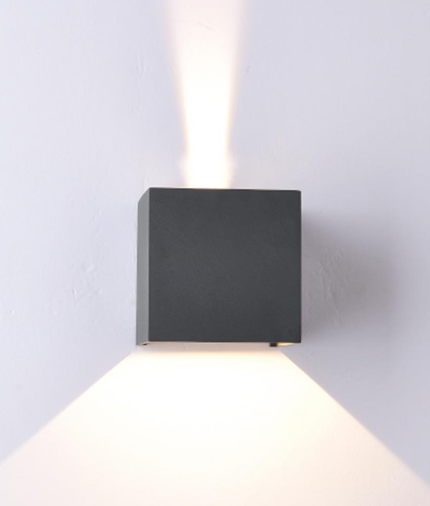 Aplique cuadrado LED gris oscuro DAVOS