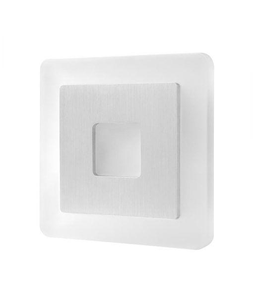 Aplique cuadrado níquel satinado SOL LED