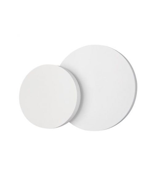 Aplique doble circular blanco TAHITI LED