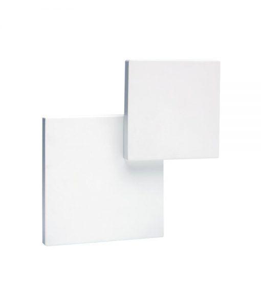 Aplique doble cuadrado blanco TAHITI LED