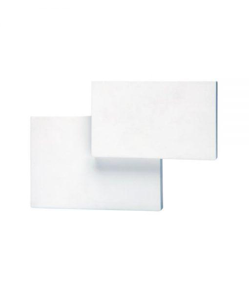 Aplique doble rectángulo blanco TAHITI LED