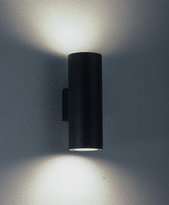 Aplique exterior gris oscuro 2 luces VOLCANO detalles