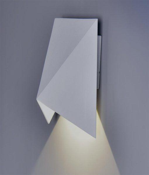 Aplique LED blanco arenado TRIAK detalle haz de luz