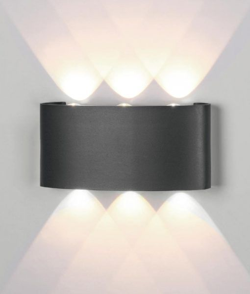Aplique LED gris oscuro ARCS